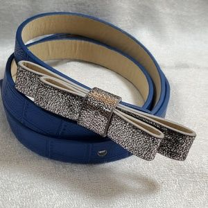 LOFT Royal Blue PU Leather Belt (M) #770
